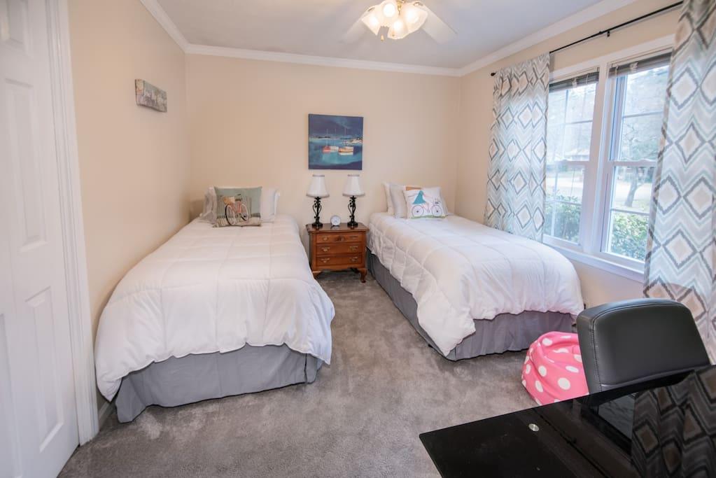 Third Bedroom 2 Twins + Office Desk