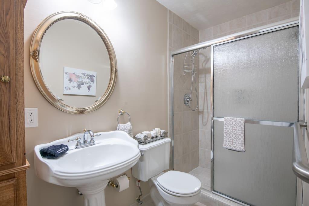 En-Suite Bathroom + Shower + Safety Bars